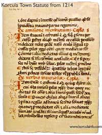 Korcula Statute 1214