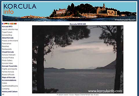 korcula live webcam