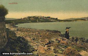 Bilin Zal Beach and vineyards in 1917 - pogled na Bilin Žal iz Matule Vlake