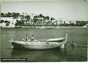 Fishing boats in Lumbarda in 1950s