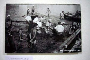 Fishing net in Lumbarda in 1930s