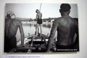 Fishing by harpoon - Lumbarda 1935