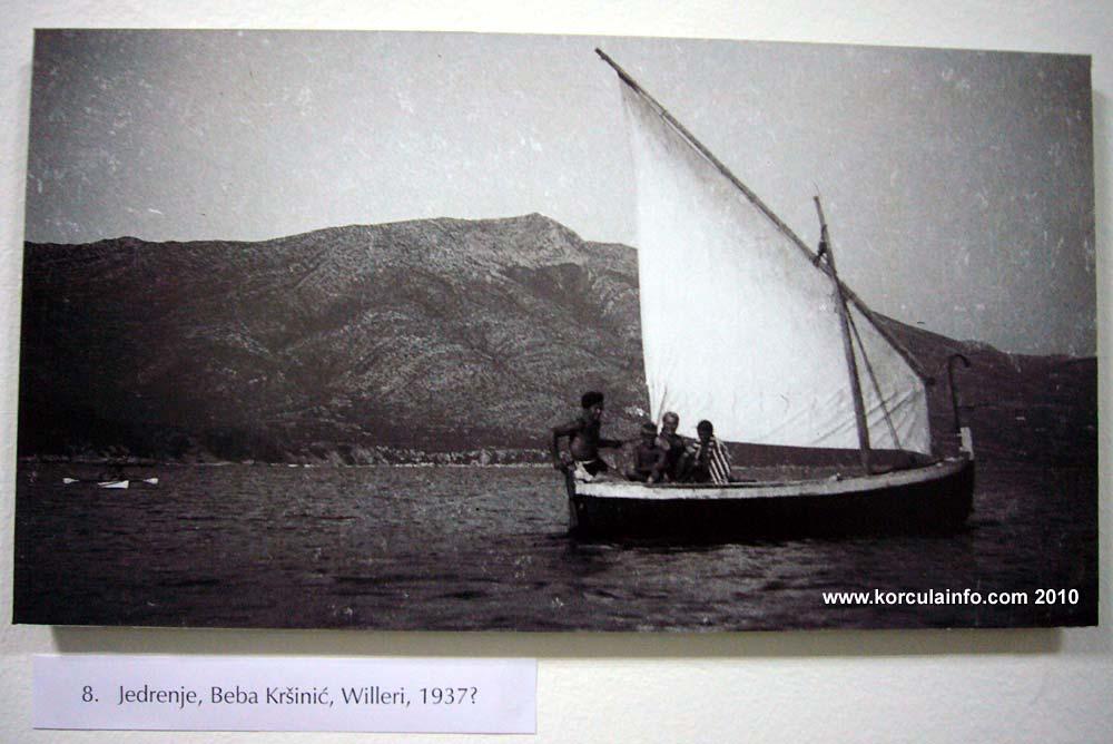 Sailing near Koludert, Lumbarda 1933