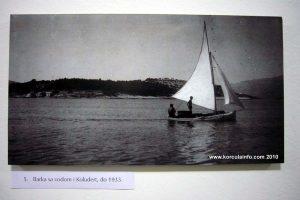 Sailing boat in Lumbarda, 1937
