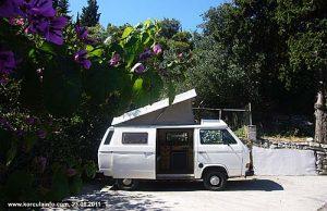 VW Campervan in Korcula