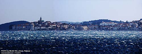 Winter photo of Korcula Town