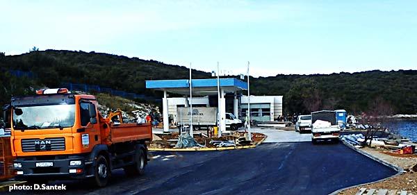 New petrol station in Korcula