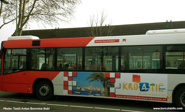 korcula on advert bus holland 2013