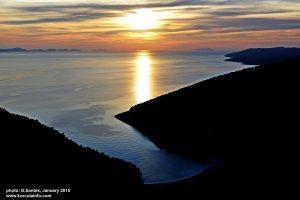 Sunset over Pupnatska Bay