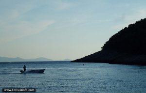 Fisherman in sunset @ Pupnatska Luka