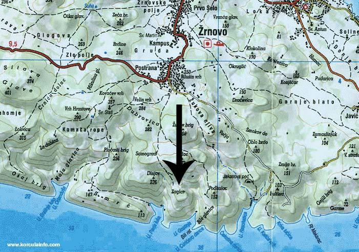 map of zaglav