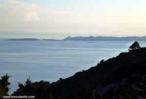 Views from Zaglav over Lastovo archipelago