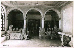 Lapidarium in Atrium of Governors Palace Gradska vijecnica aka Korcula Town Hall