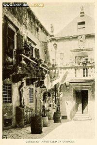 Arneri Palace Courtyard, Korcula (print from 1908)