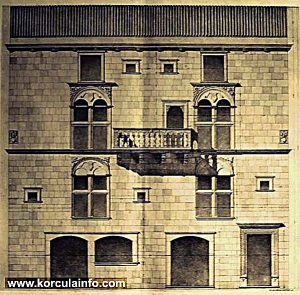 Gabrielis Palace Architectural Drawing - Detail