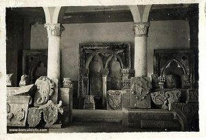 Lapidarium in atrium of Governors Palace - Korcula