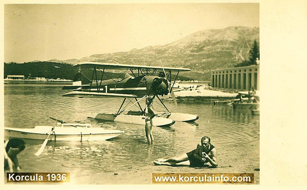 Hydroplane @ Korcula Beach in 1936