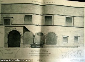 Korcula Town Hall drawing from 1916