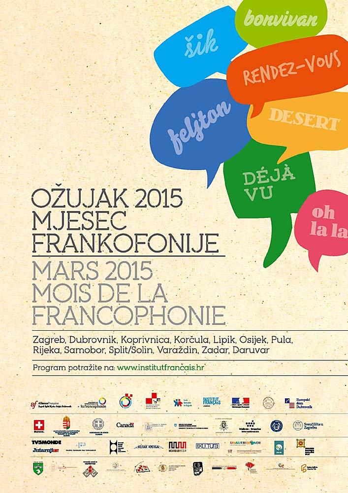 Mois De La Francophonie - Korcula Mars 2015
