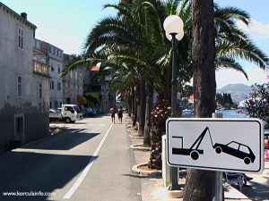 Traffic sign in Sveti Nikola