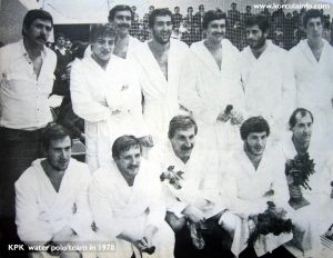 KPK water polo team in 1978 - the golden generation of water polo players from Korcula