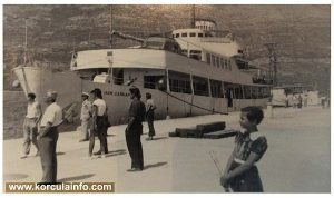 Passenger Ship 'Ivan Cankar' @ Korcula (1953)
