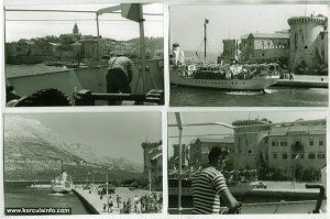 Arrival in Korcula by ferry in 1960s