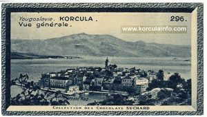 Korcula on Chocolate Shuchard European collection from 1936