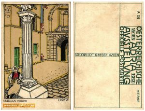 Pillar @ Square Trg Antuna i Stjepana Radica, print from 1913
