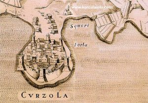 Korcula map from 1574