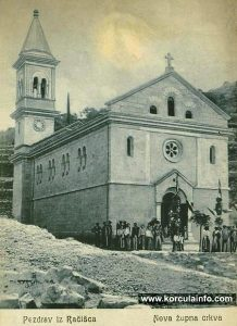 Racisce Church in 1905 Newly built church in Racisce, photo taken in 1905