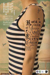 Šušur – Festival od Riči (Festival of Words) Poster 2013 - female version