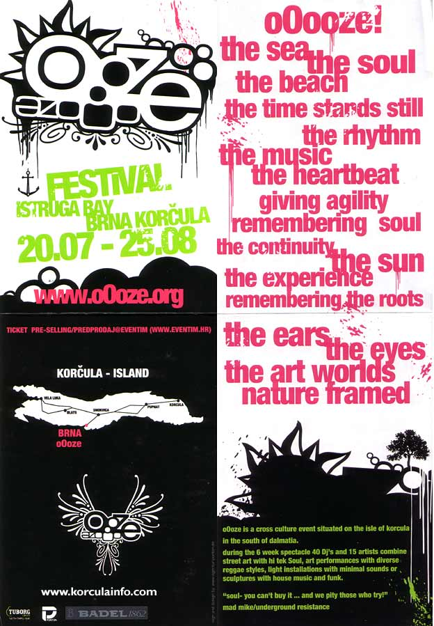 oOoze Festival Poster