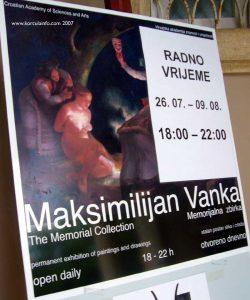 Poster of Maximilian Vanka Gallery in Korcula