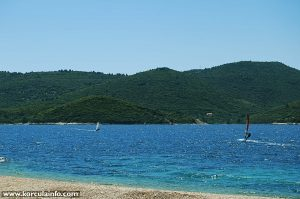 Windsurfers in Peljesac Channel