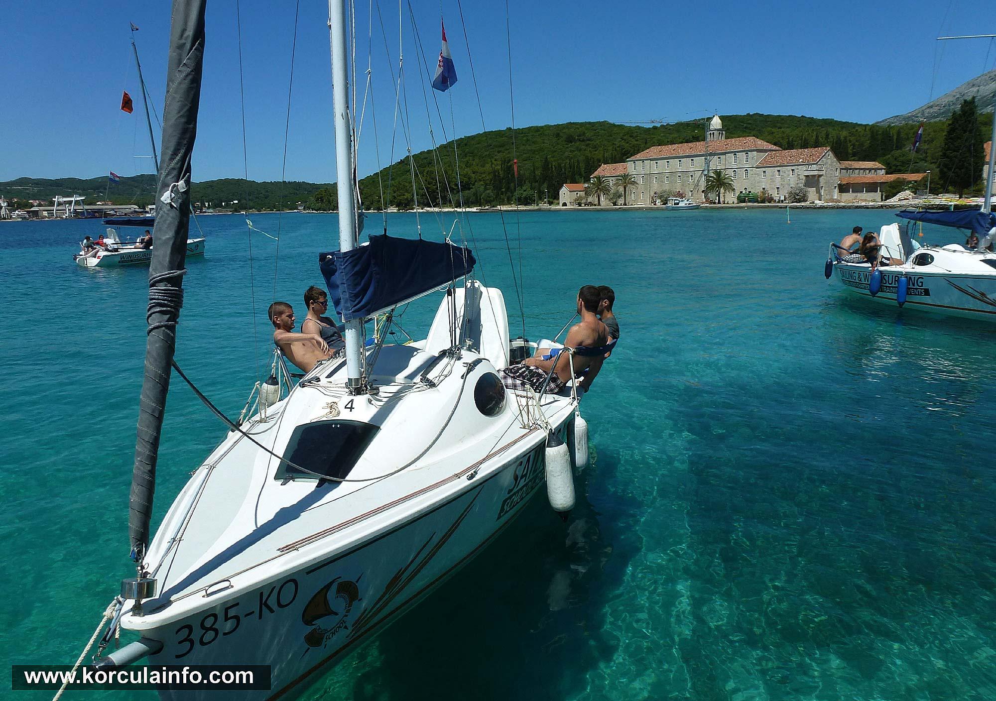Sailing course on Badija