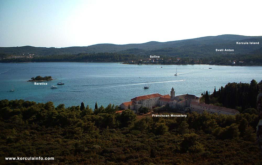 Views over Baretica, Soline, Sveti Anton (from Badija)