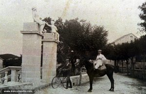 Arriving to Banje by Horse and Bicycle (in 1900s)