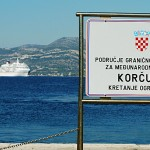 Port of Korcula sign 2011