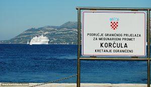 Port of Korcula sign 2011