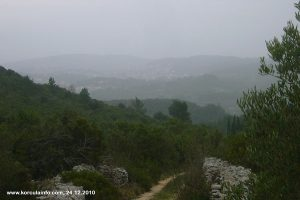 Misty views over Lumbarda