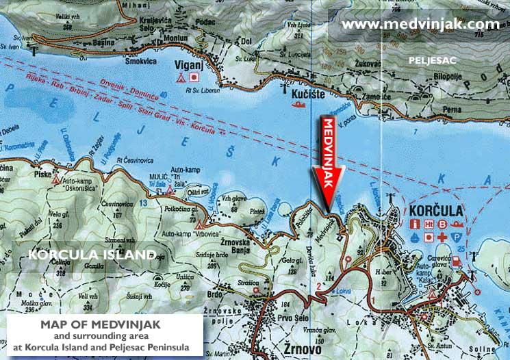 Map of Medvnjak