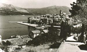 Panorama Old Town Korcula (1960s)