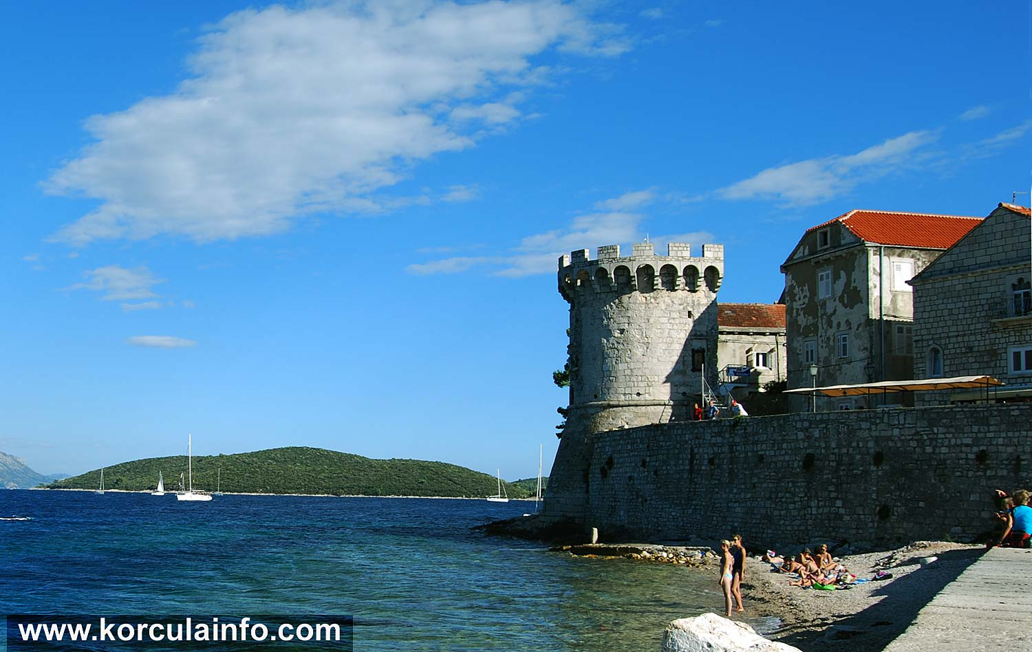 Afternoon at Puntin Beach in Korcula Old Town