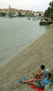 Reading Kindle @ Ispod Duvana Beach, Korcula