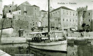 Riva in Korcula in 1920s