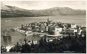 Riva in Korcula (Port) in 1930s
