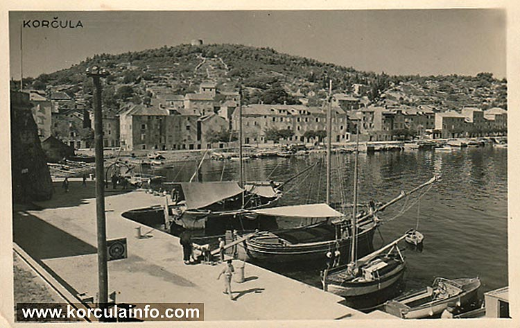 Korcula (Port) in 1934
