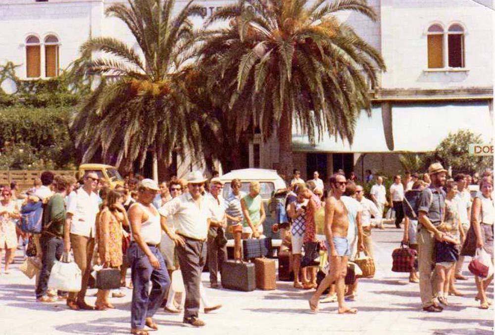 Riva in Korcula in Summer 1969