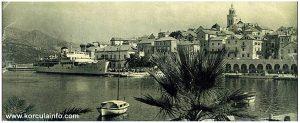 Riva in Korcula (Port) in 1950s